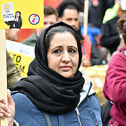 Stand Up To Racism organize a march of a UN Anti-Racism Day Demonstration and march of  the horrific Islamophobic terrorist attack on a mosque in Christchurch, New Zealand, that has left 49 dead on 16 March 2019, London, UK.
