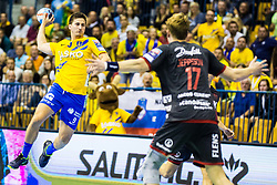 Razgor David of RK Celje Pivovarna Lasko during handball match between RK Celje Pivovarna Lasko (SLO) and SG Flensburg Handewitt (GER) in 3rd Round of EHF Men's Champions League 2018/19, on September 30, 2018 in Arena Zlatorog, Celje, Slovenia. Photo by Grega Valancic / Sportida