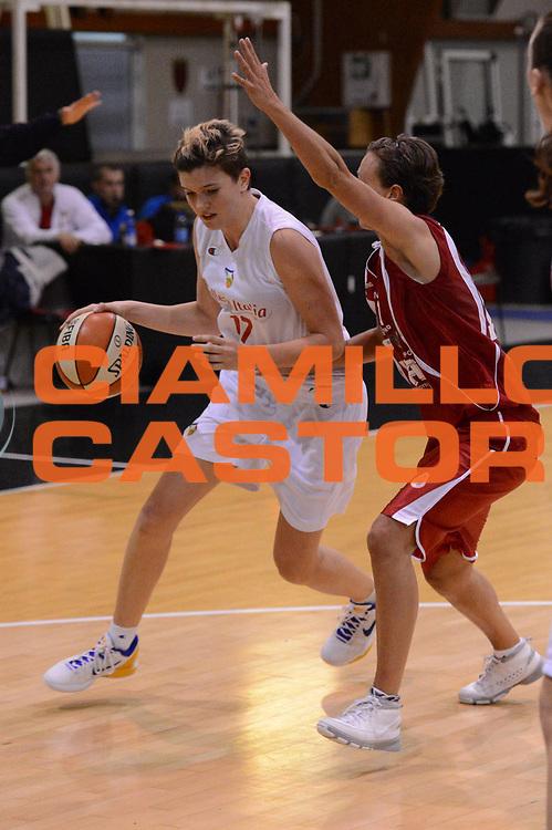 DESCRIZIONE : Roma Basket Campionato Italiano Femminile serie B 2012-2013<br />  College Italia  Gruppo L.P.A. Ariano Irpino<br /> GIOCATORE : Tosi Irene<br /> CATEGORIA : penetrazione<br /> SQUADRA : College Italia<br /> EVENTO : College Italia 2012-2013<br /> GARA : College Italia  Gruppo L.P.A. Ariano Irpino<br /> DATA : 03/11/2012<br /> CATEGORIA : palleggio<br /> SPORT : Pallacanestro <br /> AUTORE : Agenzia Ciamillo-Castoria/GiulioCiamillo<br /> Galleria : Fip Nazionali 2012<br /> Fotonotizia : Roma Basket Campionato Italiano Femminile serie B 2012-2013<br />  College Italia  Gruppo L.P.A. Ariano Irpino<br /> Predefinita :