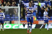 Reading's Chris Gunter applauds fans after the Sky Bet Championship match between Reading and Brighton and Hove Albion at the Madejski Stadium, Reading, England on 31 October 2015. Photo by Mark Davies.