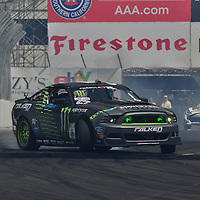 Vaughn Gittin competing in the Formula DRIFT 2012 at Toyota Grand Prix of Long Beach Street Course