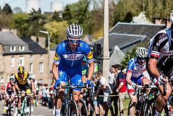Julian ALAPHILIPPE of Quick-Step Floors on his Specialized bike during the 2nd of 3 climbs with 29 km to go at Mur de Huy of the 2018 La Flèche Wallonne race, Huy, Belgium, 18 April 2018, Photo by Pim Nijland / PelotonPhotos.com   All photos usage must carry mandatory copyright credit (Peloton Photos   Pim Nijland)