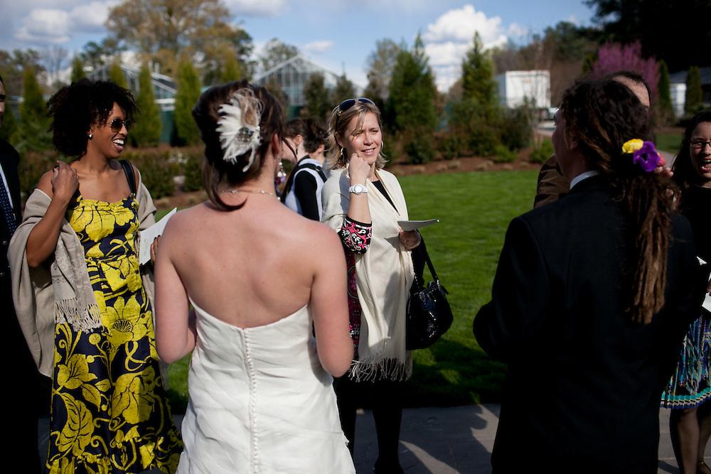 The wedding of Christel Greiner and Charlie Butchart at Sarah P. Duke Gardens in Durham, North Carolina, Saturday, April 2, 2011.
