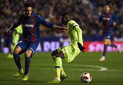 January 10, 2019 - Valencia, Valencia, Spain - Erick Cabaco of Levante UD and Ousmane Dembele of FC Barcelona during the Spanish Copa del Rey match between Levante and Barcelona at Ciutat de Valencia Stadium on Jenuary 10, 2019 in Valencia, Spain. (Credit Image: © Maria Jose Segovia/NurPhoto via ZUMA Press)