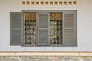 """S21, or Tuol Sleng, the Khmer Rouge detention and interrogation centre in Phnom Penh, where almost all inmates perished. The photographs stand as a memorial to those who """"disappeared""""."""
