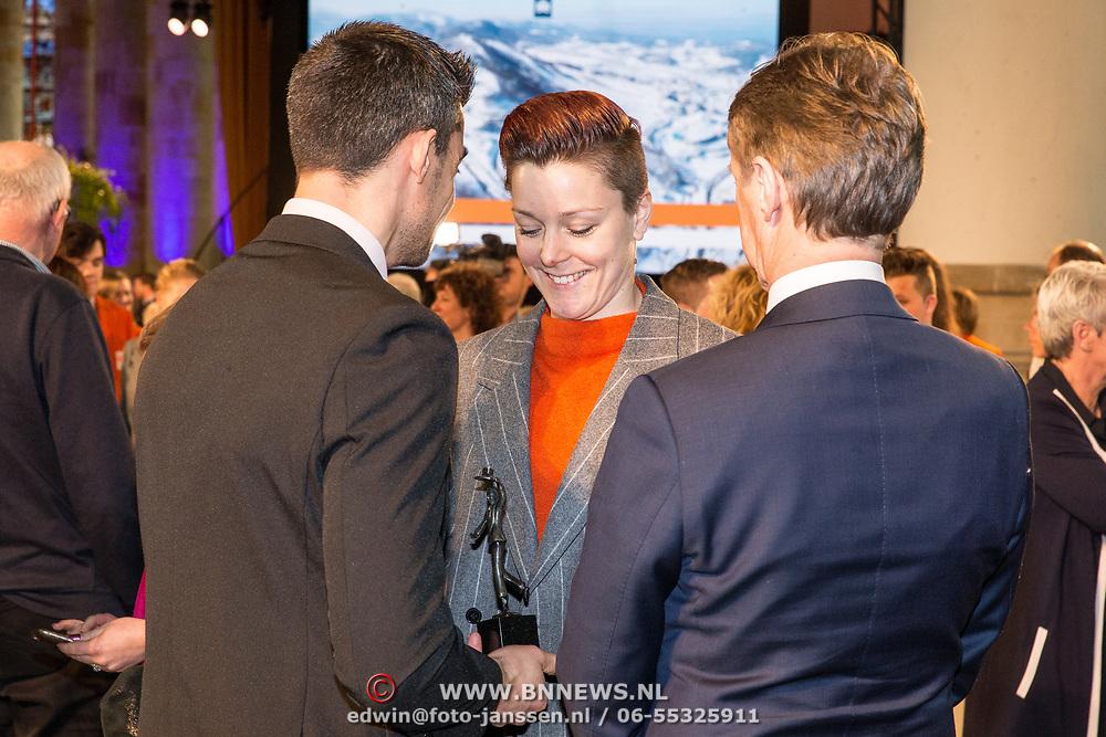 NLD/Den Haag/20180323 - Huldiging Olympische en Paralympische medaillewinnaars,  Jorien ter Mors en partner