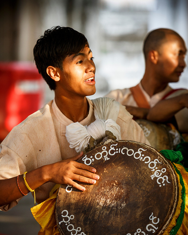 Temple drummer Mandalay