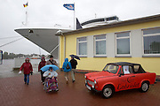 "The P&O Lines' passenger cruise ship ""Oceana"", ""Trabi""(Trabant)-Cabriolet for hire."