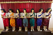 Phnom Penh, Cambodia. Royal Palace. traditional dresses on display.