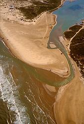The Rio Grande River emptying into the Gulf of Mexico.