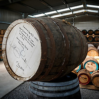 A barrel selected to commemorate Lark Distillery founder Bill Lark's induction into the Whisky Hall of Fame sits in a bond store at Lark Distillery in Hobart, Tasmania, August 25, 2015. Gary He/DRAMBOX MEDIA LIBRARY