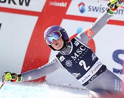 27.01.2018, Lenzerheide, SUI, FIS Weltcup Ski Alpin, Lenzerheide, Riesenslalom, Damen, 2. Lauf, im Bild Tessa Worley (FRA) // Tessa Worley (FRA) reacts after her 2nd run of ladie's Giant Slalom of FIS ski alpine world cup in Lenzerheide, Austria on 2018/01/27. EXPA Pictures © 2018, PhotoCredit: EXPA/ Sammy Minkoff<br /> <br /> *****ATTENTION - OUT of GER*****