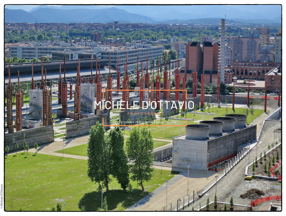 Chiesa del Santo Volto.Torino Parco Dora, lungo il fiume Dora, nell'area una volta occupata da diversi stabilimenti industriali.