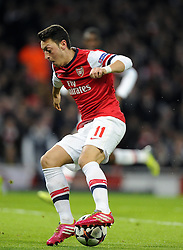 Arsenal's Mesut Ozil - Photo mandatory by-line: Joe Meredith/JMP - Tel: Mobile: 07966 386802 19/02/2014 - SPORT - FOOTBALL - London - Emirates Stadium - Arsenal v Bayern Munich - Champions League - Last 16 - First Leg