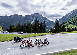 11.07.2019, Kitzbühel, AUT, Ö-Tour, Österreich Radrundfahrt, 5. Etappe, von Bruck an der Glocknerstraße nach Kitzbühel (161,9 km), im Bild die Spitzengruppe auf der Gerlos, Tirol // the attackers at the Gerlos Tyrol during 5th stage from Bruck an der Glocknerstraße to Kitzbühel (161,9 km) of the 2019 Tour of Austria. Kitzbühel, Austria on 2019/07/11. EXPA Pictures © 2019, PhotoCredit: EXPA/ Reinhard Eisenbauer