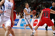 17.8.2012, J??halli / Ice Stadium, Helsinki, Finland..Koripallon EM-karsintaottelu Suomi - Albania / FIBA EuroBasket 2013 Qualifying match, Finland v Albania..Antto Nikkarinen - Finland..
