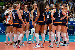 04-08-2019 ITA: FIVB Tokyo Volleyball Qualification 2019 / Netherlands, - Italy Catania<br /> last match pool F in hall Pala Catania between Netherlands - Italy for the Olympic ticket. Italy win 3-0 and take the ticket to the Olympics / Team Netherlands