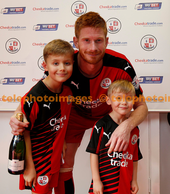 Crawley&rsquo;s man of the match Matt Harrold seen after the Sky Bet League 2 match between Crawley Town and York City at the Checkatrade.com Stadium in Crawley. October 31, 2015.<br /> James Boardman / Telephoto Images<br /> +44 7967 642437
