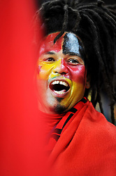 A German fan during the 2010 FIFA World Cup South Africa Group D match between Ghana and Germany at Soccer City Stadium on June 23, 2010 in Johannesburg, South Africa.