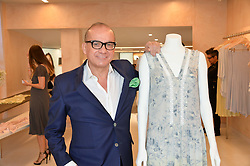 TOUKER SULEYMAN at a party to celebrate the re-launch of the Ghost Flagship store at 120 King's Road, London on 15th April 2015.