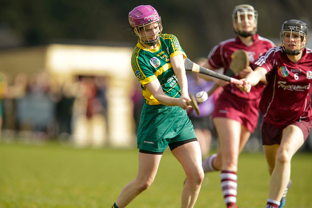 National Camogie League Division 2 at Trim, 20th March 2016<br /> Meath vs Galway<br /> Katie Hackett (Meath) & Aoife Lynskey (Galway)<br /> Photo: David Mullen /www.cyberimages.net / 2016