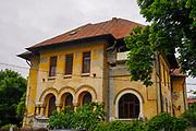 Post communist decay, dilapidated building deterioration, Bucharest Romania