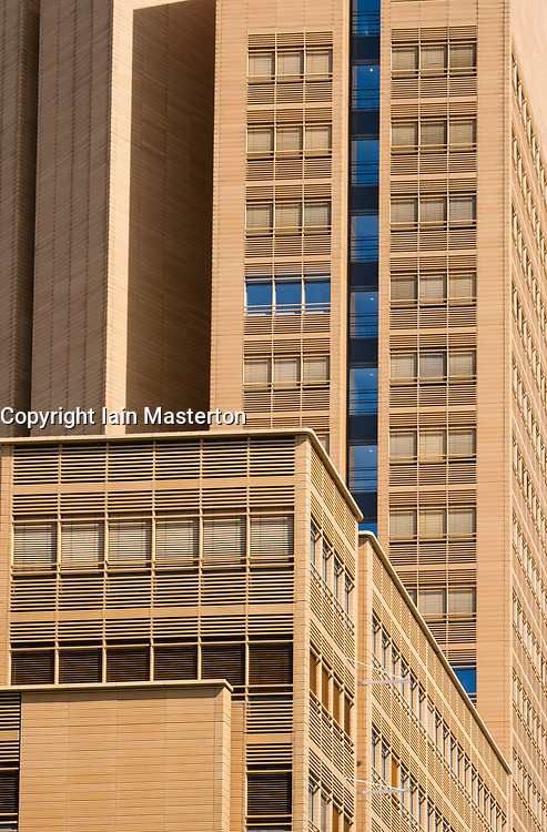 Detail of office buildings  at  Potsdamer Platz Square, Berlin, Germany,