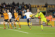 Wolverhampton Wanderers goalkeeper Carl Ikeme claims the ball during the Sky Bet Championship match between Wolverhampton Wanderers and Preston North End at Molineux, Wolverhampton, England on 13 February 2016. Photo by Alan Franklin.