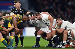 Ben Moon of England looks on at a scrum - Mandatory byline: Patrick Khachfe/JMP - 07966 386802 - 24/11/2018 - RUGBY UNION - Twickenham Stadium - London, England - England v Australia - Quilter International