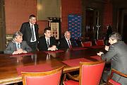 DESCRIZIONE : Torino PalaIsozaki Commissione FIBA in visita per assegnazione dei Mondiali 2014<br /> GIOCATORE : Boris Stankovic Markus Studar Predrag Bogosavljev Massimo Cilli <br /> SQUADRA : Fiba Fip<br /> EVENTO : Visita per assegnazione dei Mondiali 2014<br /> GARA :<br /> DATA : 30/03/2009<br /> CATEGORIA : Ritratto<br /> SPORT : Pallacanestro<br /> AUTORE : Agenzia Ciamillo-Castoria/G.Ciamillo<br /> Galleria : Italia 2014<br /> Fotonotizia : Torino visita per assegnazione dei Mondiali 2014<br /> Predefinita :