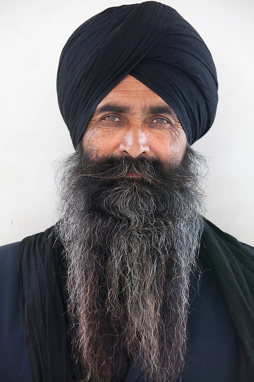 A portrait of a sikh Pilgrim in Punjab,India.