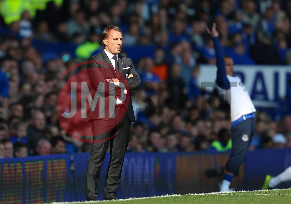 Liverpool Manager, Brendan Rodgers  - Mandatory byline: Matt McNulty/JMP - 07966 386802 - 04/10/2015 - FOOTBALL - Goodison Park - Liverpool, England - Everton  v Liverpool - Barclays Premier League