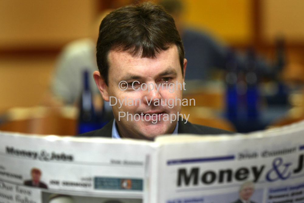 11/10/2002 Irish Examiner.Pictured yesterday at the Society of Chartered Surveyors Annual Conference at the Kilkenny Ormonde Hotel was Andrew Scanlan Pierse Construction..Picture Dylan Vaughan