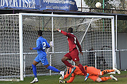 Greenwich Borough's Mohamed Eisa scores  (5-0) during the Southern Counties East match between AFC Croydon Athletic and Greenwich Borough at the Mayfield Stadium, Croydon, United Kingdom on 12 March 2016. Photo by Martin Cole.