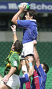24/05/2002 (Friday).Sport -Rugby Union - London Sevens.South Africa vs France.Laurent Baluc-Rittener[Mandatory Credit, Peter Spurier/ Intersport Images].