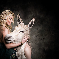 Queen of the Fairies, Titania  and her lover Bottom, who was turned into a Donkey by Puck.