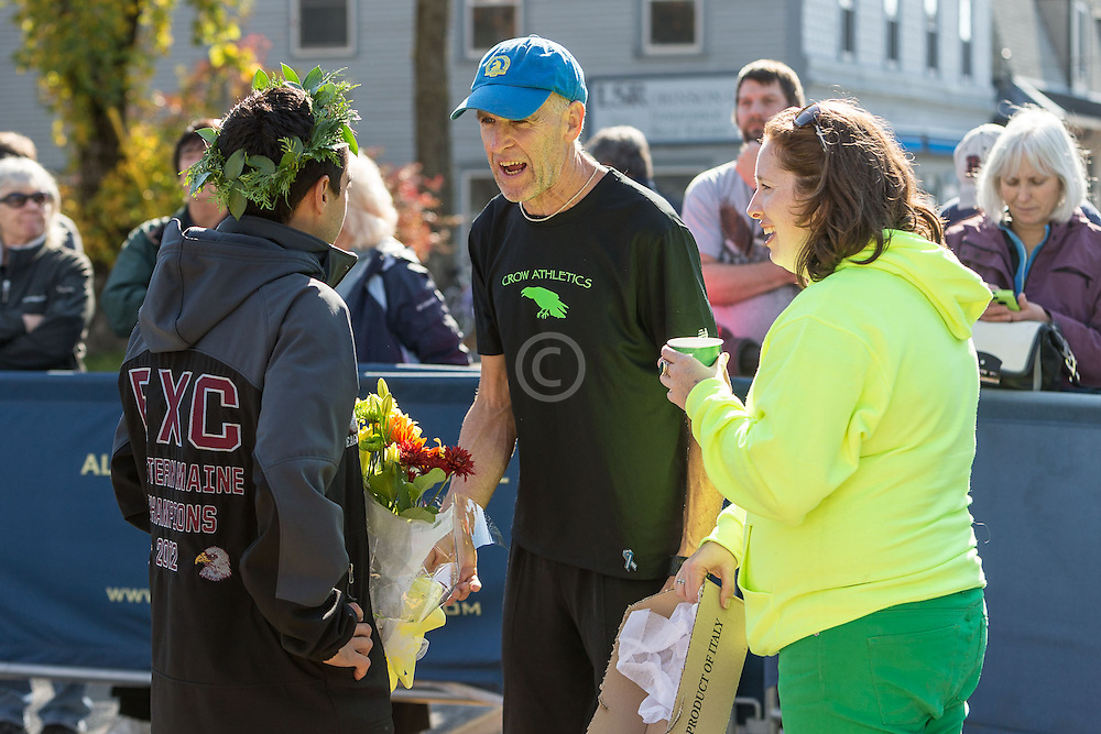 Mount Desert Island Marathon: Louie Luchini, Gary Allen, Mary Ropp