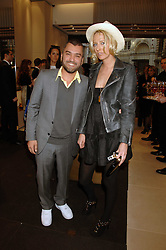 Designer EDMUNDO CASTILLO and the HON.SOPHIA HESKETH at a party at shoe store Sergio Rossi, 207 Sloane Street, London on 4th April 2007.<br />