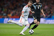 Sergio Ramos of Spain during the International friendly game football match between Spain and Argentina on march 27, 2018 at Wanda Metropolitano Stadium in Madrid, Spain - Photo Rudy / Spain ProSportsImages / DPPI / ProSportsImages / DPPI