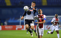 18.10.2011, Stadion Maksimir, Zagreb, CRO, UEFA CL, Gruppe D, Dinamo Zagreb (CRO) vs Ajax Amsterdam (NED), im Bild  Fatos Beqiraj (21), Jan Vertonghen (4). .Photo: Goran Stanzl // during UEFA Champions League group D match between Dinamo Zagreb (CRO) and Ajax Amsterdam (NED)) at Maksimir Stadium, Zagreb, Croatia on 18/10/2011. .EXPA Pictures © 2011, PhotoCredit: EXPA/ nph/ PIXSELL  **** only for AUT       ****** out of GER / CRO  / BEL ******