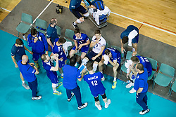 Players of Slovenia during volleyball match between national teams of Slovenia and Netherlands of 2018 CEV volleyball Godlen European League, on June 6, 2018 in Arena Bonifika, Koper, Slovenia. Photo by Urban Urbanc / Sportida