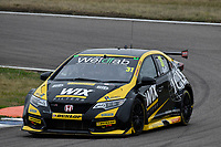 #31 Jack Goff WIX Racing with Eurotech Honda Civic Type R (FK2) during BTCC Race 1  as part of the Dunlop MSA British Touring Car Championship - Rockingham 2018 at Rockingham, Corby, Northamptonshire, United Kingdom. August 12 2018. World Copyright Peter Taylor/PSP. Copy of publication required for printed pictures.