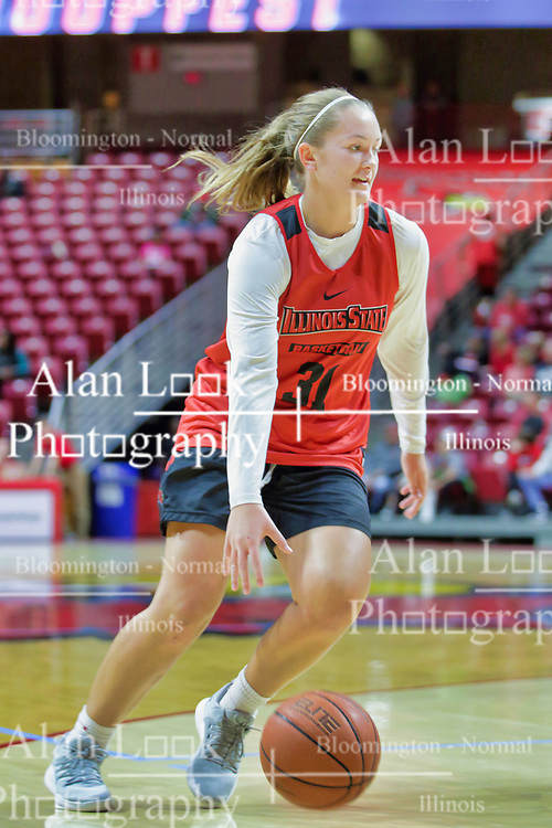 NORMAL, IL - October 12: Kayel Newland during Illinois State Athletics Hoopfest on October 12 2018 at Redbird Arena in Normal, IL. (Photo by Alan Look)
