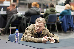 © Licensed to London News Pictures . 16/11/2012 . Manchester , UK . Many vote counters had no work to do due to the low turnout . Manchester Central by election count at Manchester Central Convention Centre . Photo credit : Joel Goodman/LNP