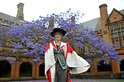 Actor Cate Blanchett poses for a photograph before receiving an Honorary Doctor of Letters at a Global Achievements ceremony at the University of Sydney, in Sydney, Australia.