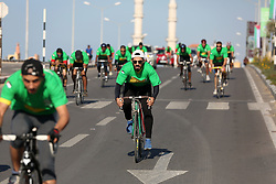 November 10, 2017 - Gaza, gaza strip, Palestine - Palestinians cyclists participate in a ''national unity marathon'' organised by the Palestine Athletic Federation to support national reconciliation, in Gaza City on November 10, 2017. (Credit Image: © Majdi Fathi/NurPhoto via ZUMA Press)