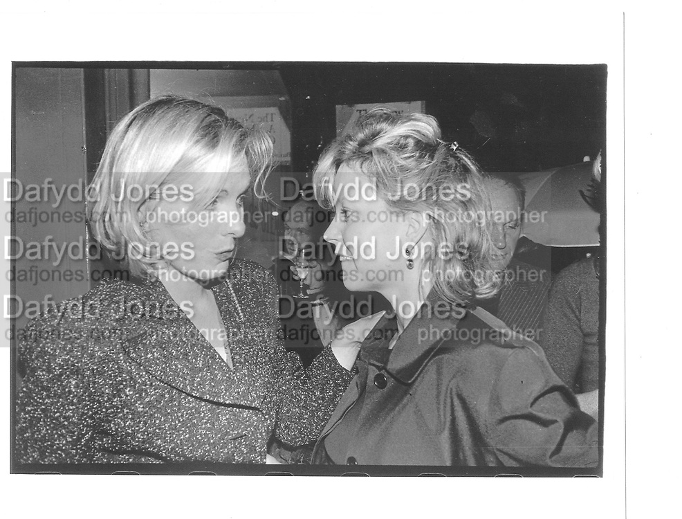 Sophie de Stempel, Kay Saatchi, at Sopie de Stempel opening. Rebecca Hossack Gallery, Windmill St. London 9th October 1997© Copyright Photograph by Dafydd Jones 66 Stockwell Park Rd. London SW9 0DA Tel 020 7733 0108 www.dafjones.com