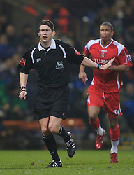 Bolton, England - Wednesday, January 31, 2007: L. Probert takes charge of Bolton Wanderers versus Charlton Athletic during the Premiership match at the Reebok Stadium. (Pic by David Rawcliffe/Propaganda)