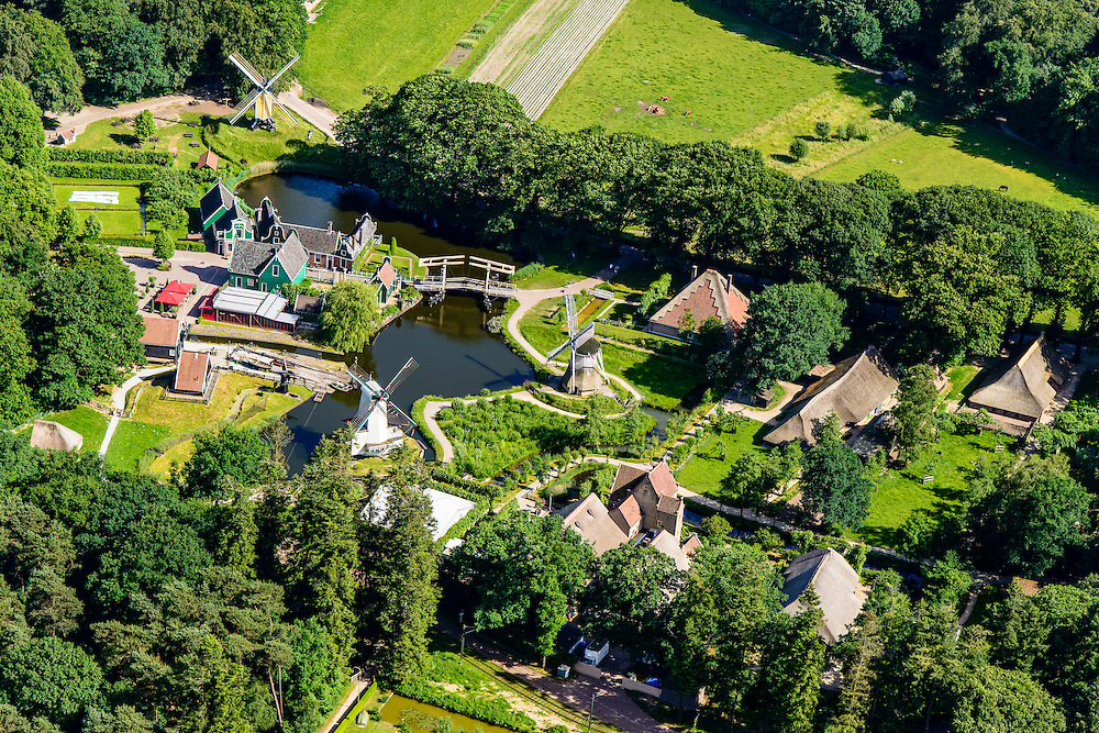 Nederland, Gelderland, Arnhem, 09-06-2016; Nederlands Openluchtmuseum.<br /> Netherlands Open Air Museum.<br /> <br /> luchtfoto (toeslag op standard tarieven);<br /> aerial photo (additional fee required);<br /> copyright foto/photo Siebe Swart