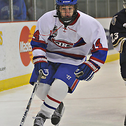 TORONTO, ON - Nov 10: Ontario Junior Hockey League game between Toronto Jr. Canadiens and Toronto Lakeshore Patriots. Nicholas Jarzabek #44 of the Toronto Junior Canadiens during first period game action..(Photo by Shawn Muir / OJHL Images)
